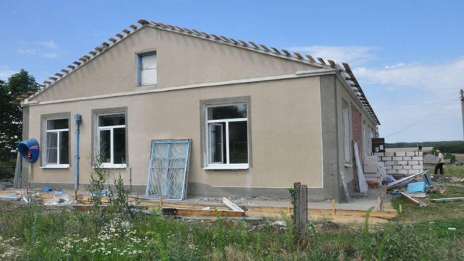 В деревне Буравцовка Эртильского района идет строительство детского сада