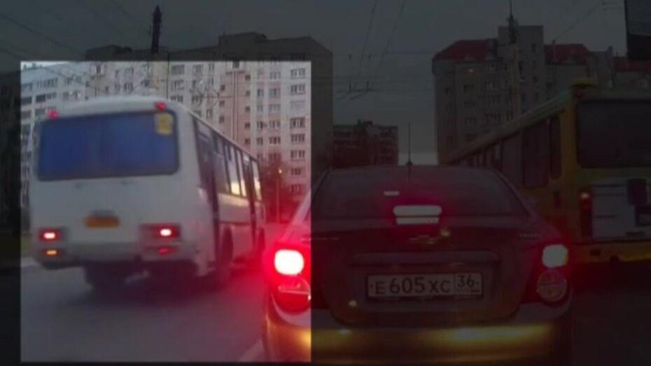 Выехавшего на «встречку» водителя воронежской маршрутки оштрафовали на 5 тыс рублей