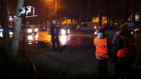 В Воронеже рабочие повредили газопровод
