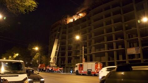 В Воронеже загорелась строящаяся многоэтажка