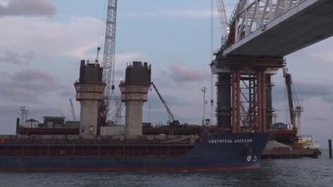 В Крыму установили арку моста с воронежскими металлоконструкциями