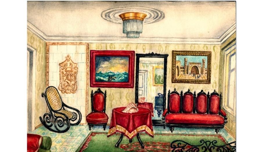 В Воронеже нашли рисунки интерьеров первого дома Бунина