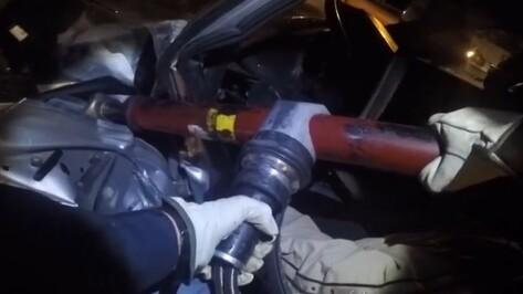 Последствия смертельной аварии на улице Минская в Воронеже попали на видео