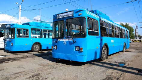 На воронежские улицы вышли прибывшие из Москвы троллейбусы