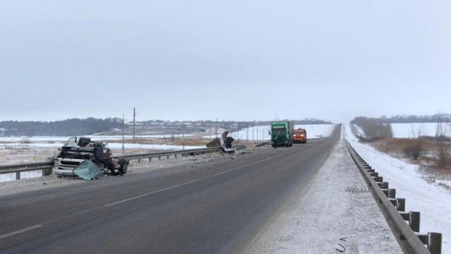 Полиция назвала причину смертельной расцепки фуры под Воронежем