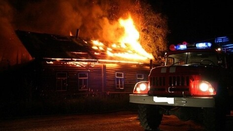 В Воронежской области в День защитника Отечества при пожаре пострадал мужчина