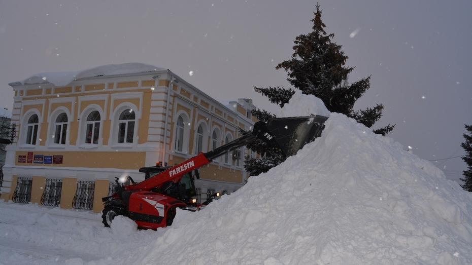 На расчистку снега в Богучарском районе вышли 48 единиц техники