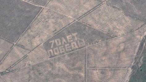 Воронежский лесной геоглиф «70 лет Победы» попал на карты Google