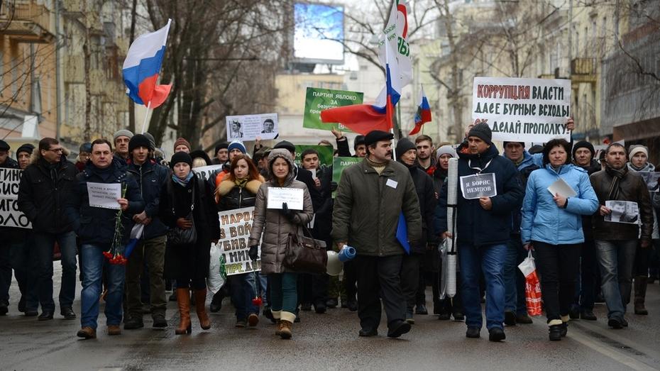 Участников антикризисного митинга в Воронеже попытались облить зеленкой