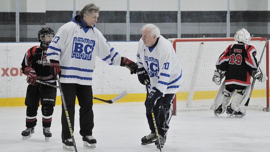 Новая спортшкола в Воронеже открылась матчем со звездами советского хоккея