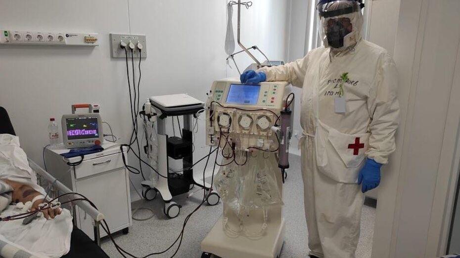 Впервые в Воронеже пациентке с коронавирусом провели гемодиализ