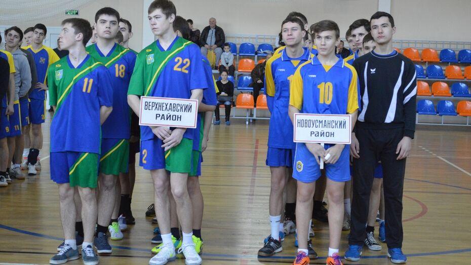 Новоусманские юноши вышли в финал областной спартакиады по гандболу