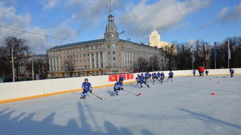 На площади Ленина в Воронеже открылся каток