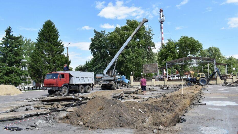 В Грибановке отремонтируют центральную площадь