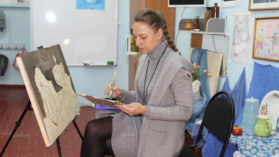 Ольховатская художница написала картину о пандемии