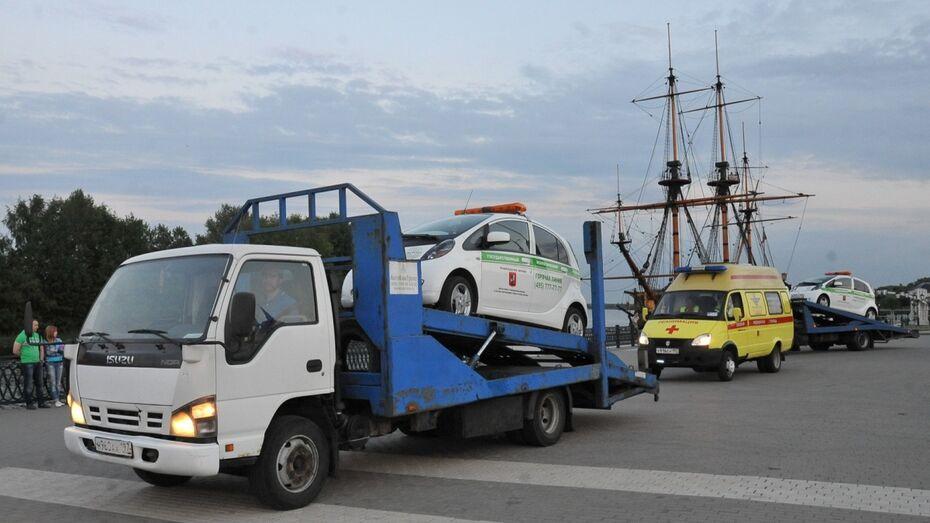 Электромобили из автопробега «ЭКОЛОГиЯ» прибыли в Воронеж на эвакуаторах