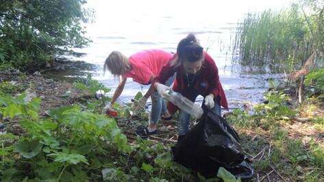 Воронежцы собрали 230 мешков мусора с берега водохранилища