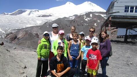 Верхнемамонские дети побывали на Эльбрусе
