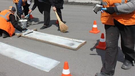 На нанесение дорожной разметки в Воронеже потратят 106 млн рублей