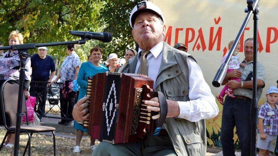 В Новой Усмани прошел фестиваль народного фольклора «Играй, гармонь, звени, частушка!»