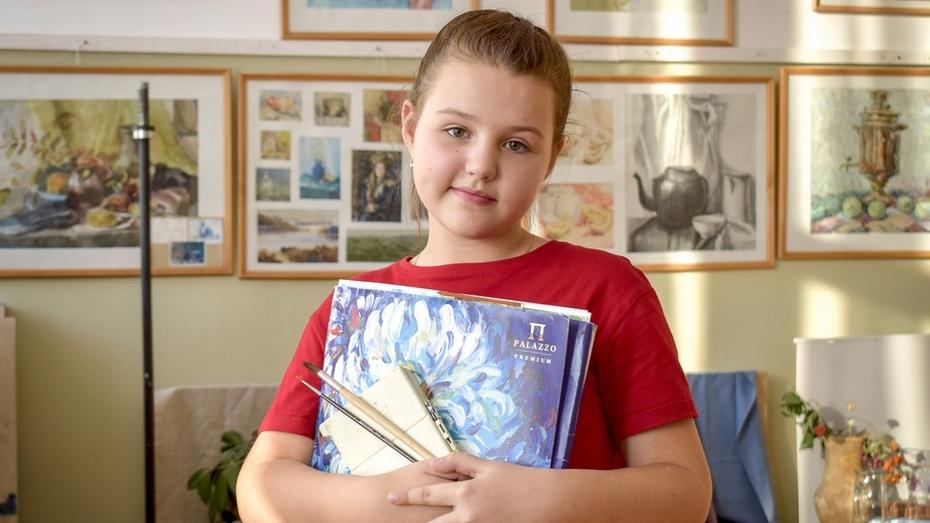 Лискинская школьница победила во всероссийском  конкурсе рисунков «Он сказал: