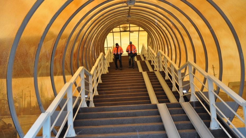 В Павловске открылся надземный пешеходный переход через М-4