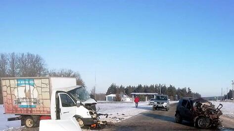 Двое водителей погибли при лобовом ДТП в Воронежской области