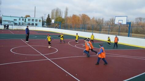 В Эртильском районе построили новую многофункциональную спортивную площадку