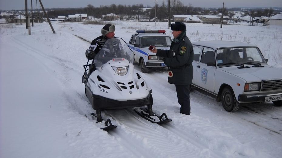 В Верхнемамонском районе стартовала акция «Снегоход»