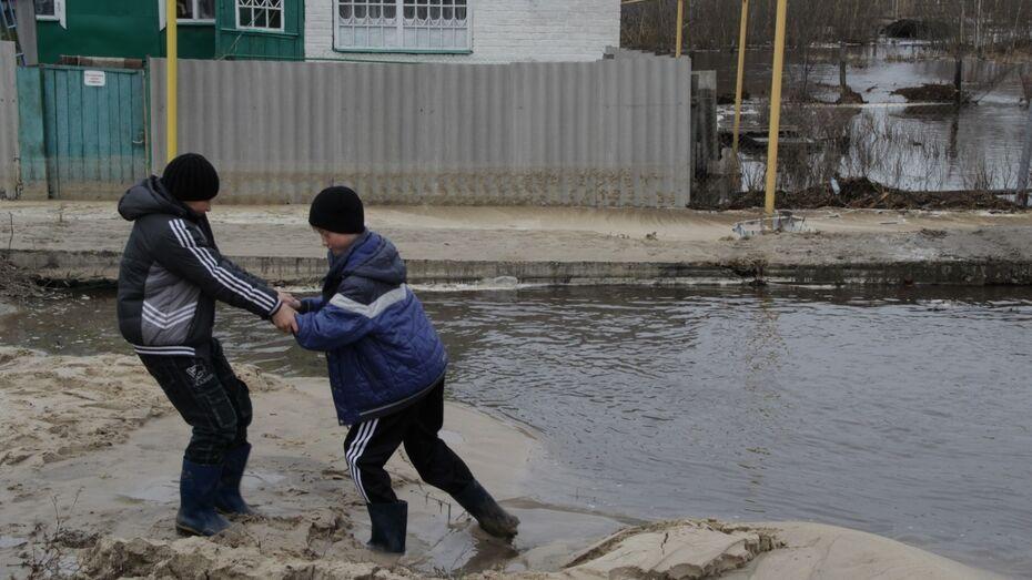 Под Борисоглебском вода скрыла мост