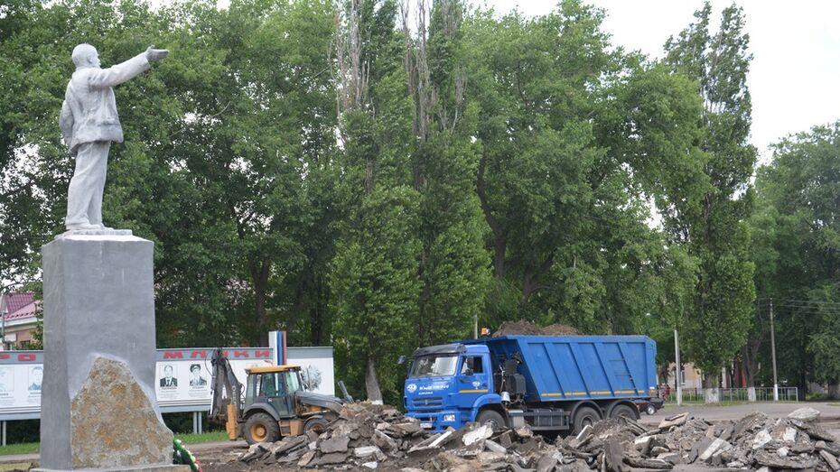 В Поворино реконструируют Комсомольскую площадь