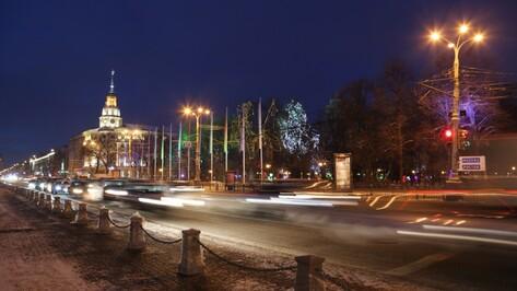 Власти перекроют центральные улицы Воронежа на новогодних праздниках