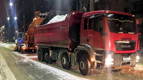 Две улицы перекроют в Воронеже ради уборки снега