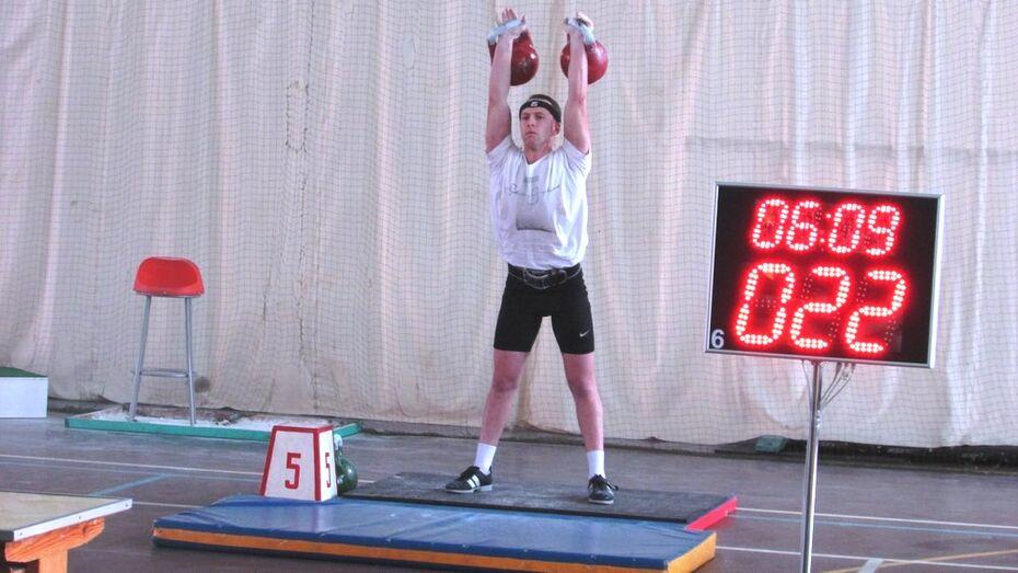 Нижнедевицкий гиревик занял 3 место на областном чемпионате