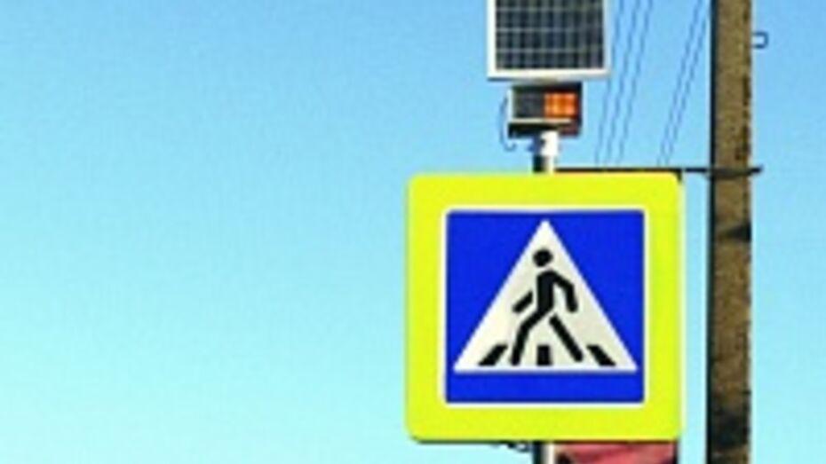 В Подгоренском районе украли с дороги светоиндикаторный пешеходный знак