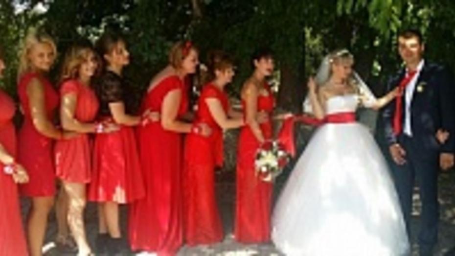 В Новохоперском районе  вошли в моду красные, лиловые и желтые свадьбы
