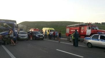 В Воронежской области столкнулись 11 машин на трассе М4 «Дон»