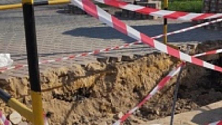 В Воронеже из-за строительства ливневок перекроют две дороги