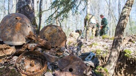 В Подмосковье перезахоронили останки красноармейца из Аннинского района