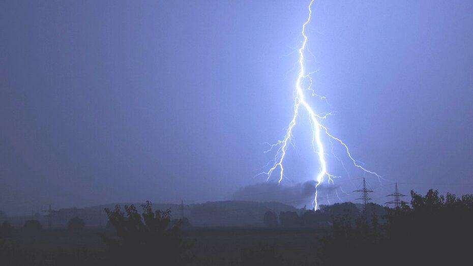 В Борисоглебске молния попала в линию электропередачи