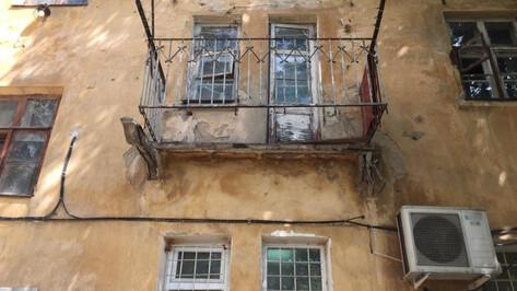 Рухнувшая вместе с балконом жительница Воронежа попала в реанимацию