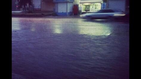 Ливень в Воронеже затопил Ленинский проспект