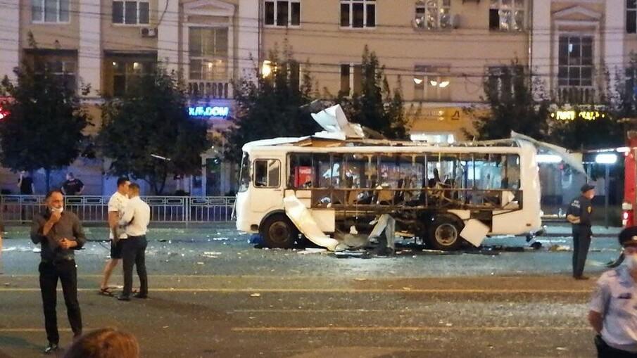 Взрыв автобуса на Кольцовской в Воронеже