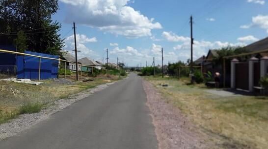 В лискинском селе Копанище впервые появился асфальт на улице Мира