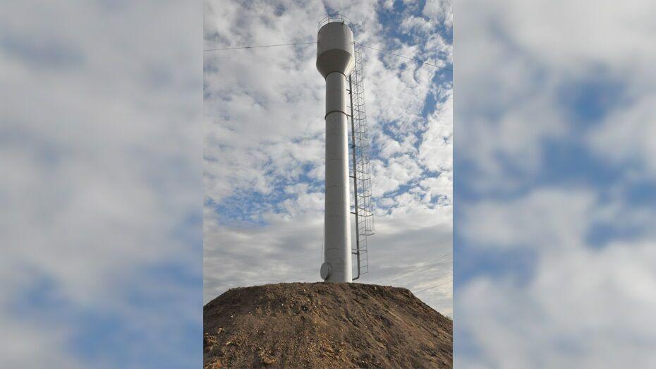 В репьевском селе Бутырки установили новую водонапорную башню