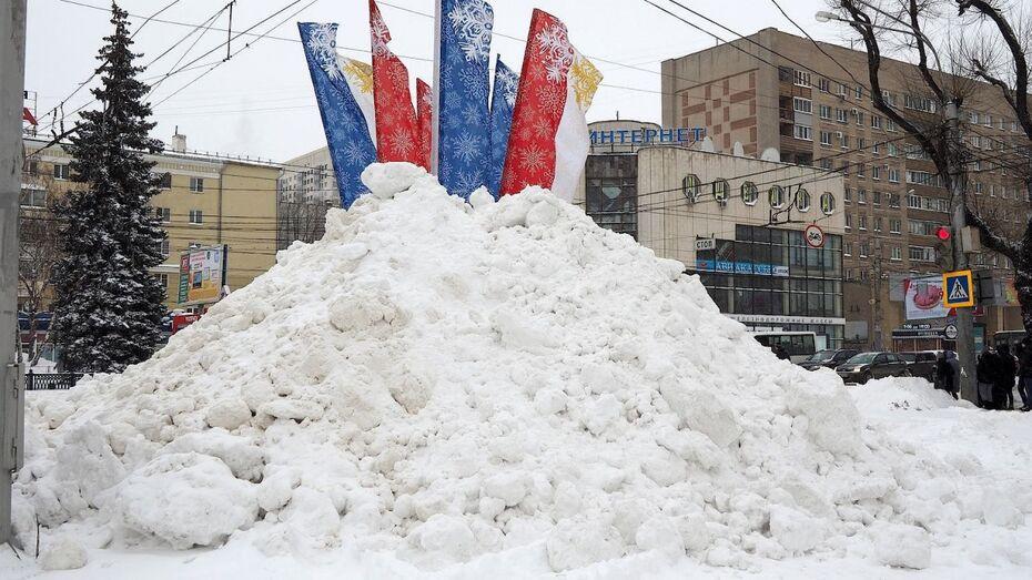 Gismeteo: высота снежного покрова в Воронеже в марте-2018 достигла 62 см
