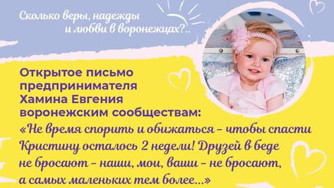 Предприниматель Евгений Хамин вышел с открытым письмом к воронежским сообществам