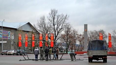 В Бутурлиновке приступили к установке новогодней елки