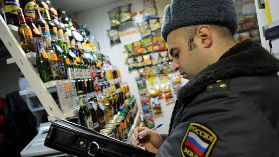 В Новоусманском районе бывший заключенный украл из магазина водку и закуску