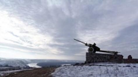 Верхнемамонцы установили памятную табличку на могиле неизвестного солдата
